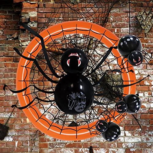 Dan&Dre Decoración de fiesta de globos de Halloween, juego de globos gigantes, decoración de araña colgante para fiestas de cumpleaños, barras de decoración