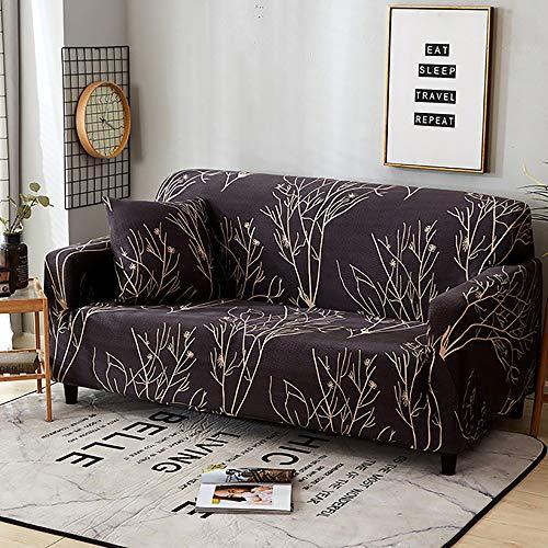 TiA Funda De Sofá Elástica Cubre Sofa Universal para Sala De Estar Elegante Floral Impresa Protector Cubierta Fundas para Muebles De Sofá (Multicolor)