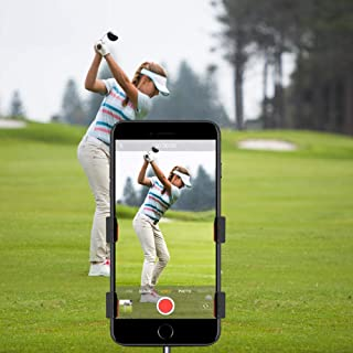 Record Golf Swing, Cell Phone Clip Holder for Golf Training | Work with Clubs, Flag Stick or Alignment Sticks | Quick & Easy to Set Up