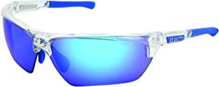 MCR Safety DM1328B Dominator DM3 Safety Glasses with Blue Diamond Mirror and Clear Frame