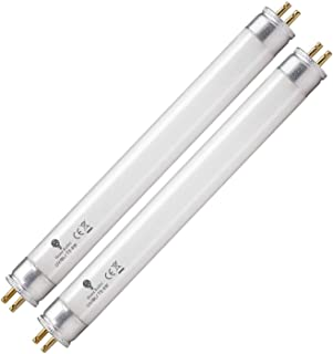 2 Pack 6 Watt Replacement Bulbs F6T5/BL Fluorescent Tube G5 Base 9 inch Full Length Replacement for DT2000XL and DT2000XLP...