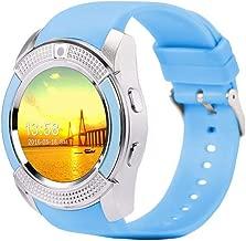 OUYAWEI Electronic Y1 Bluetooth Smart Watch with Touch Screen Camera/SIM Card Slot Waterproof Smart Watch Blue