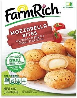 Farm Rich Breaded Mozzarella CheeseBites, Real Mozzarella Cheese in a Pizzeria Style Crust, Frozen, 19.2 Ounces