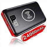 KEDRON Externer Akku 24000mAh Wireless Powerbank, 2 in 1