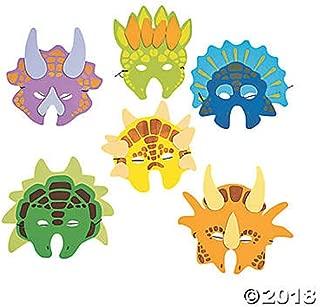 Kidville 1 Dozen Foam Dinosaur Masks, Party Favors for Children (12 Dinosaur Masks)