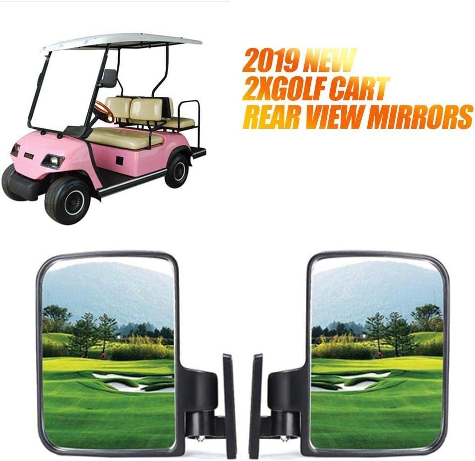 1 Paar Universal Golfwagen Rückspiegel Auto Klemmen Für Utv Golf Cart Atv Rückspiegel Rückansicht Spiegel Auto
