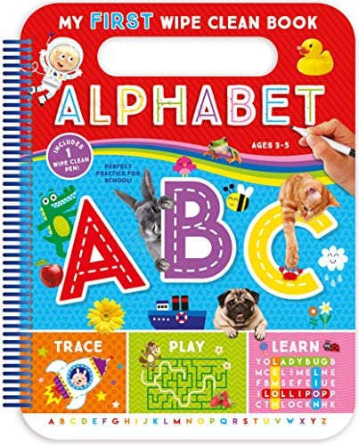 My First Wipe Clean Book Alphabet Teacher Approved Activities to Help Kids Trace Write and Learn product image