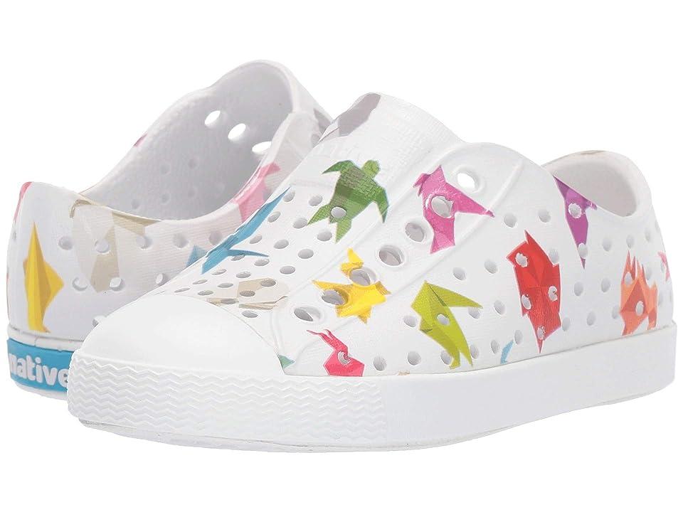 Native Kids Shoes Jefferson Print (Toddler/Little Kid) (Shell White/Shell White/Origami) Kid