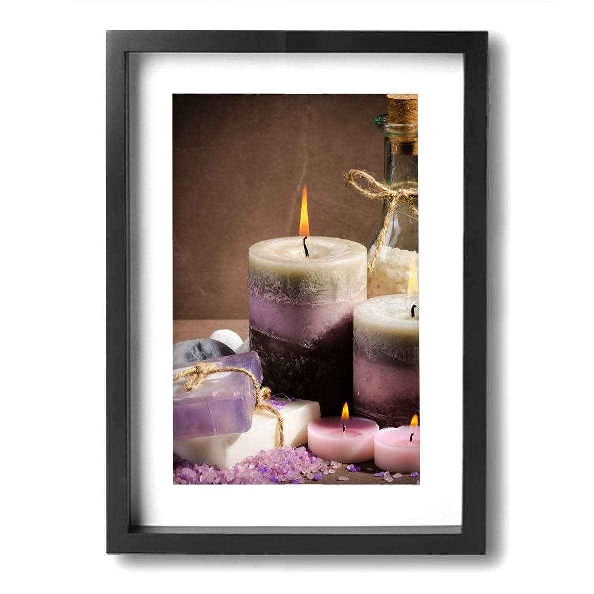 同情メディカル素人魅力的な芸術 20x30cm Spa Purple Color Candle Oil キャンバスの壁アート 画像プリント絵画リビングルームの壁の装飾と家の装飾のための現代アートワークハングする準備ができて