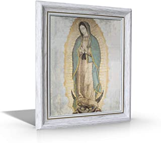 St Joseph Communications Our Lady of Guadalupe (Traditional) White Frame - Framed Canvas - 10