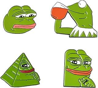 Gyayu Pepe Frog Enamel pins Meme pins Lapel pin Brooch Hat Pin Internet