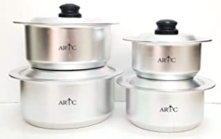 ARTC High Grade Anodized Aluminium Cooking pot 4pcs Set
