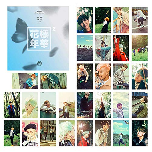 Nuofeng - Kpop bangtan boys WINGS Card Paper Photo bangtan boys Love Yourself Photocards Lomo Card Sticker Postcard Set Gift for A.R.M.Y 30pcs(H02)