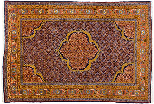 Lifetex.eu Hochwertiger Orientteppich Ardebil-Muster (ca. 135x200 cm) Klassisch handgeknüpft Schurwolle Rot