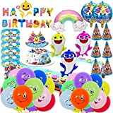 SVZIOOG Baby Shark Theme Party Decorations Baby's Birthday Party 45 Piece Set