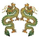 Kesheng 1 par de parches bordados de dragón chino para planchar, para camiseta, pantalones vaqueros, ropa, bolsas, cortina