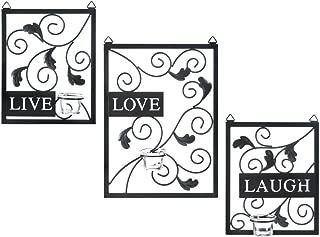 Essential Home Essence Live, Laugh, Love Wall Sconce Set (3 Piece)