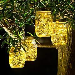 4 Stück Solarlampen für Außen