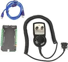 Mootea MACH3 Interface Board,CNC MACH3 USB 3 Axis 125kHz Stepper Motor Controller Breakout Board + Hand Wheel