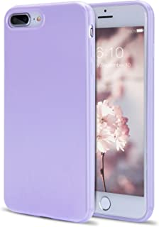 iPhone 8 Plus Case, iPhone 7 Plus Case Girls, FGA Candy Cute Slim Fit Solid Color Shockproof Protective Flexible Soft TPU Gel Case Cover iPhone 8 Plus(2017), iPhone 7 Plus(2016)(Lavender)