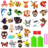 NATUCE 29Pcs 5D DIY Diamond Stickers Painting Kits for Kids Animal Sticker Paint with Diamonds by Numbers Kits Art Crafts Set for Children, Boys and Girls