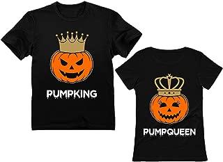 Jack O' Lantern Halloween PumpKing PumpQueen Matching Couple Shirts Horror Night