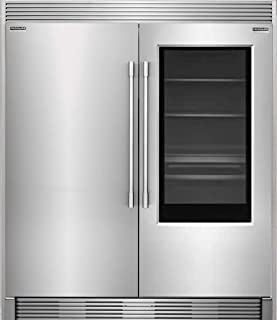 New Frigidaire Professional 19 Cu. Ft. Glass Door All Refrigerator and 19 Cu. Ft. Glass Door All Freezer and Trim Kit, FPGU19F8TF and FPFU19F8RF with TRIMKITEZ2