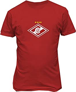 Janllow FC Spartak Moscow Russia Soccer Football Mens Tee Shirts