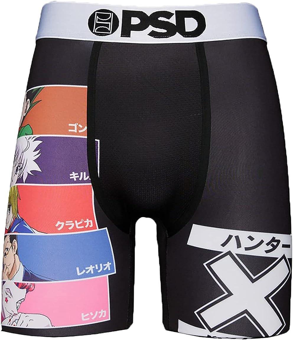 PSD Underwear Men's Stretch Elastic Wide Band Boxer Brief Underwear Bottom - HxH| Breathable, 7 inch Inseam |