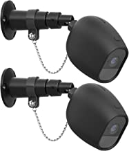 HOLACA Security Outdoor Mount for Arlo pro Arlo pro 2 with Anti-Theft Chain,Silicone Protective Case-Extra Protection for Your Arlo Wireless Home Security Camera (2 Pack, Black)