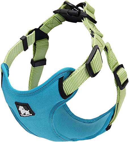 """PetsUp Nylon Dog Harness for Large Medium Small Puppy Dogs (Sea Blue, 33"""" to 43""""cm)"""
