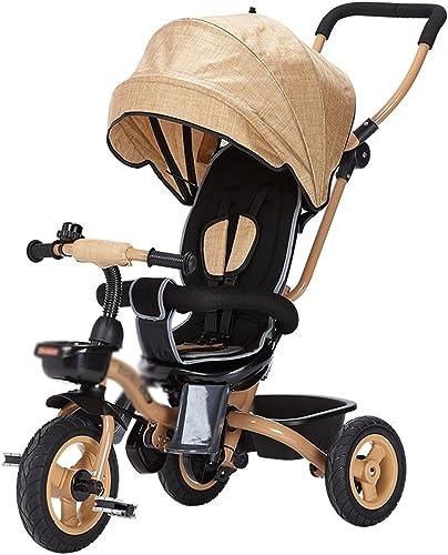 liquidación hasta el 70% Juguetes Portátil Bebé Niño Bicicletas Niños Triciclo Carritos Cochecitos de de de bebé Niño Bicicletas 3 Ruedas, Regalo Plegable para Niños Neumático del Amortiguador de Choque (Color   marrón)  opciones a bajo precio