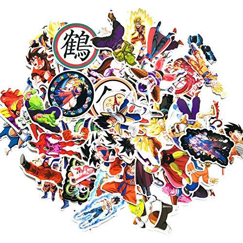 Multiculture 100 Stücke Dragonball Vinyl Aufkleber