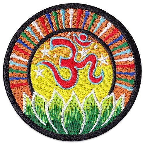 Om Psychedelisches Chakra Aufnäher Aufbügler Patch Esoterik Buddha Hindu Kunst (Klein)