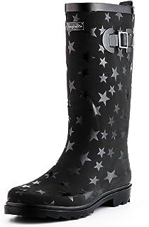 Women Fashion Rain Boots,Waterproof Garden Shoes for...