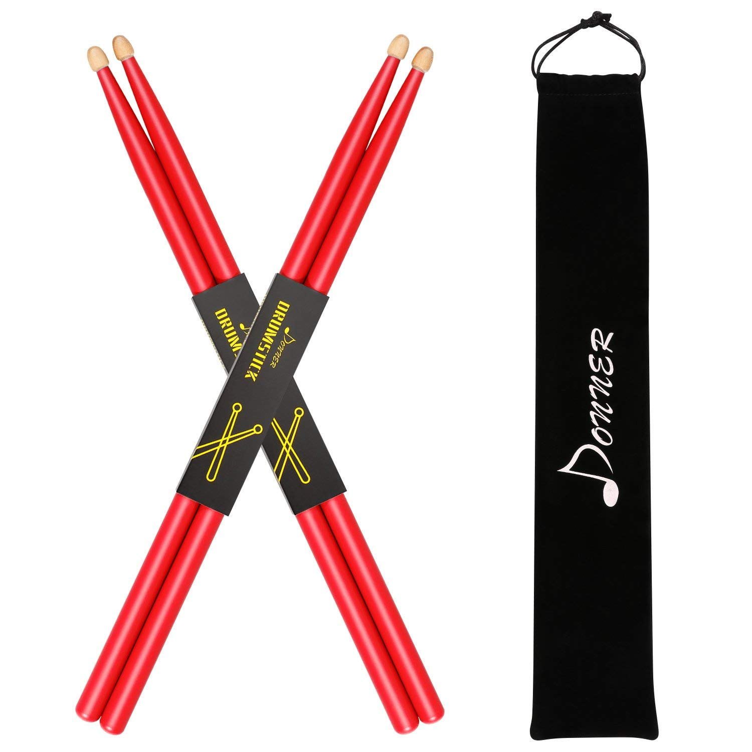 Donner Drumstick Carrying Beginner Red