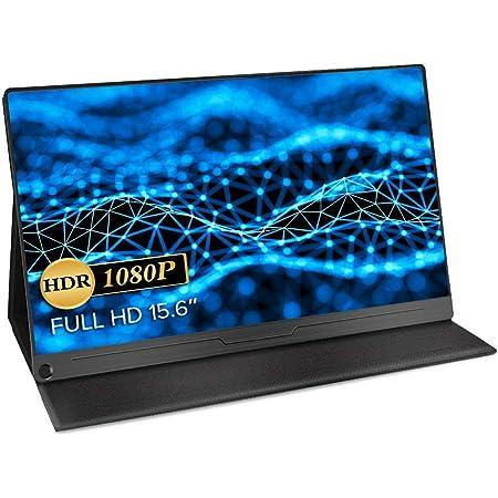 モバイルモニター EVICIV 最新版 モバイルディスプレイ 15.6インチ ゲームモニター IPS液晶パネル 薄型 軽量 USB Type-C/標準HD/mini DP スタンドカバー PS4/XBOX/Switch/PC/Macなど対応 EVC-1506