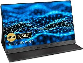 モバイルモニター EVICIV 最新版 モバイルディスプレイ 15.6インチ ゲームモニター IPS液晶パネル 薄型 軽量 USB Type-C/標準HD/mini DP スタンドカバー PS4/XBOX/Switch/PC/Macなど対応 E...