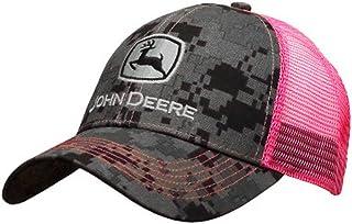 جون ديري NCAA للرجال شعار العلامة التجارية سائق شاحنة شبكة الظهر Core قبعة بيسبول وردي/رمادي قياس واحد