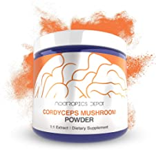 Cordyceps Mushroom Powder   60 Grams   Cordyceps militaris   Organic Whole Fruiting Body Mushroom Extract   Supports Healthy Immune System