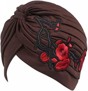 Highpot Hot Women Embroidery Cancer Chemo Hat Beanie Scarf Turban Head Wrap Cap