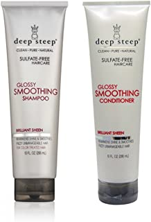 deep steep glossy smoothing shampoo