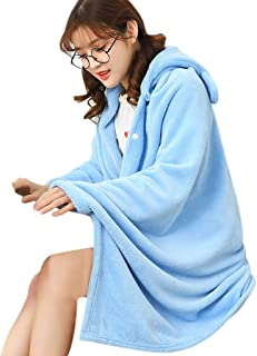 GXOK Microfiber Air Conditioning Blanket,Multifunction Flannel Shawl Blanket for Lady,Wearable Sofa Mat Thick Warm Soft,Warm Blanket Tapestry