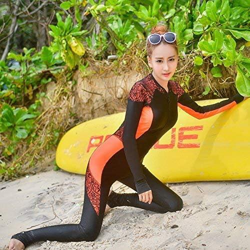 ZHRUI Le Code Un Maillot de Bain, méduses vêteHommests Dentelle Graphics Thin Sports Yoga, Orange Fluorescent, XLL (Couleuré   comme montré, Taille   Taille Unique)