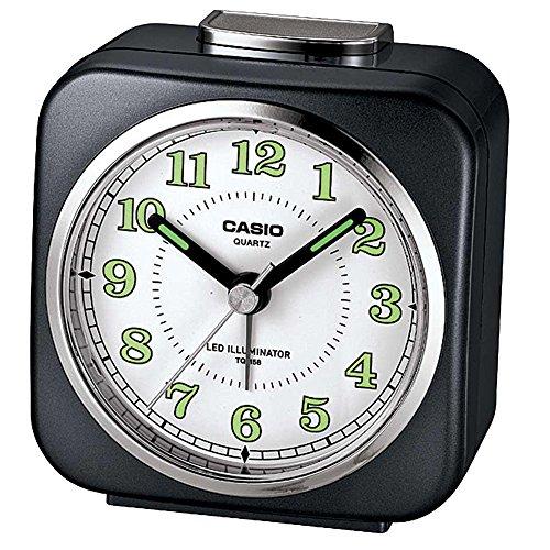 Casio Tq-158-1 Table Top Travel Alarm Clock Black