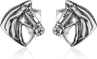 Horse Head Premium Mammal Pewter Lapel Pin Jewelry M139PR Brooch