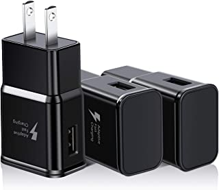 USB Quick Charger, Eversame Adaptive Fast Charging Wall Charger Adapter Compatible with Galaxy S10+/S9+/S8+, Note 10+/9+, LG G7/G6/V30, HTC 10/A9/M9, iPhone, iPad and Wireless Charger(3-Pack, Black)