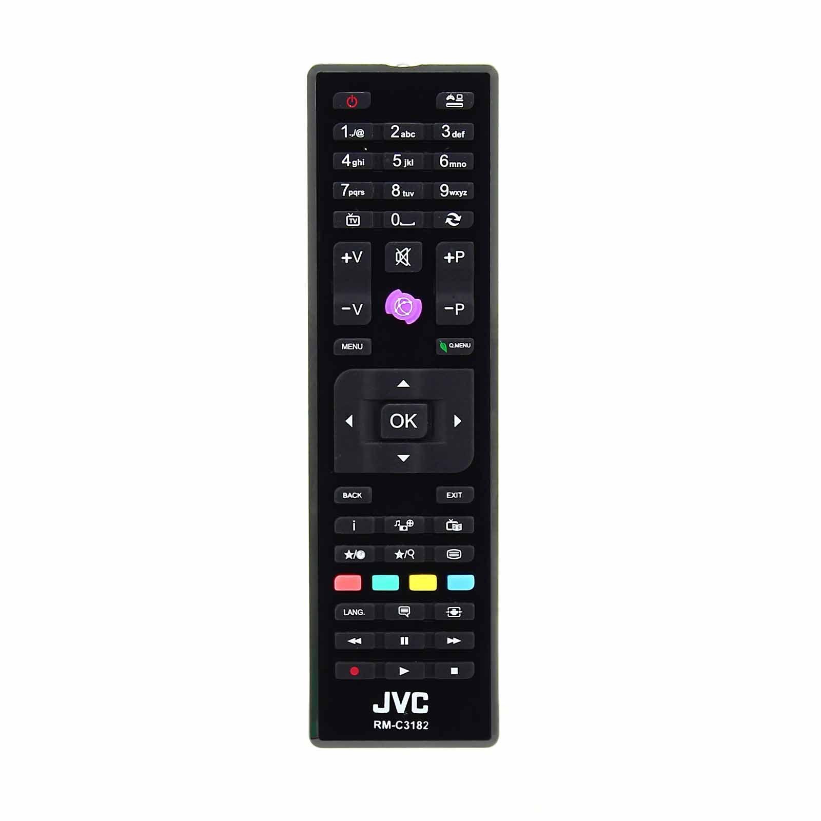 JVC 23249527 RM-C3182 RMC3182 Control Remoto Genuino para televisores LCD LED 3D HD Smart: Amazon.es: Electrónica