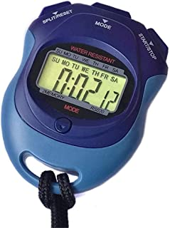 Stor stoppur, handhållen kronograf vattentålig stoppklocka med alarm för tränare fitnessmatchning (färg: Som visas, storle...