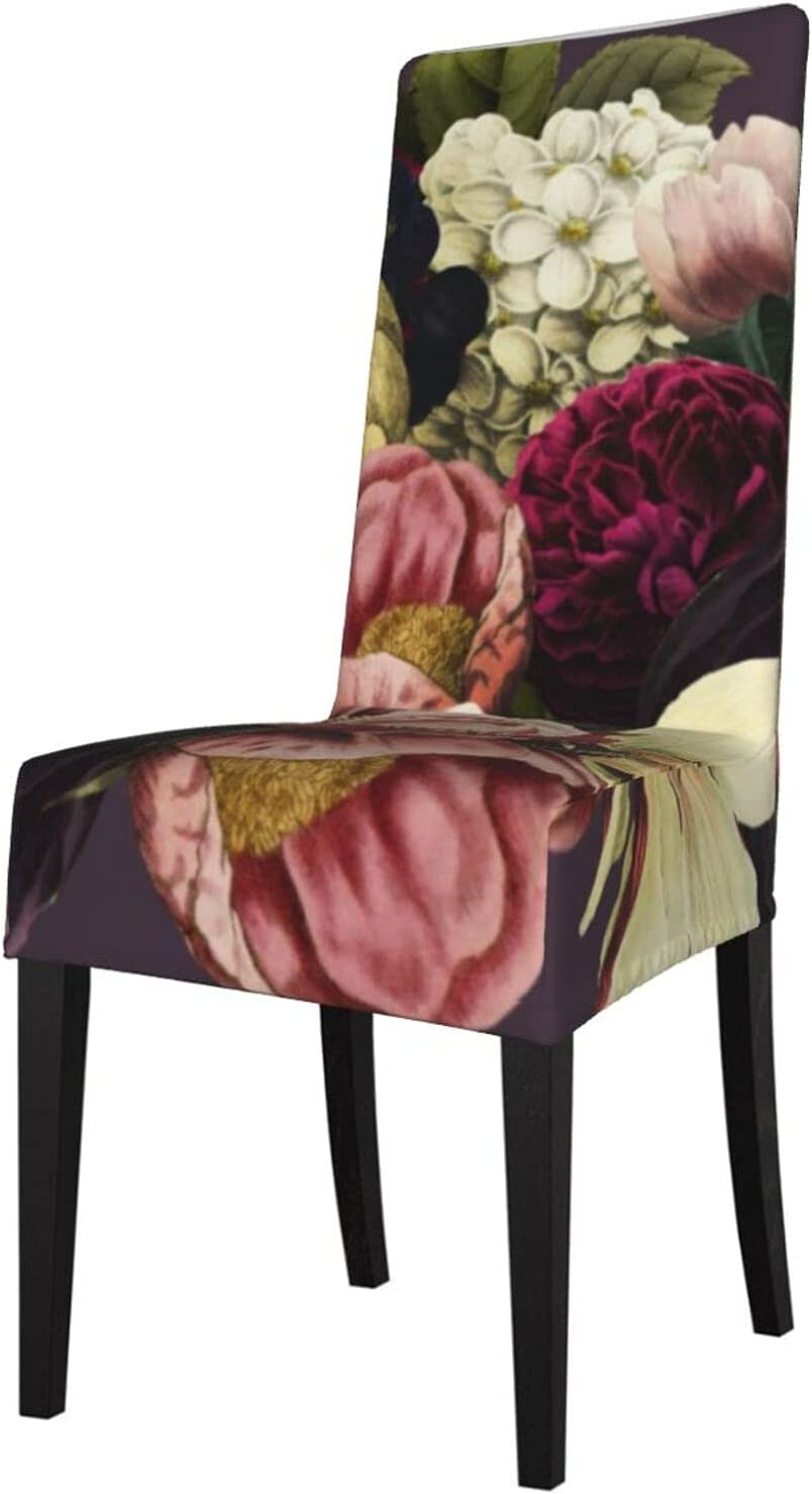 QUAVZI 2PCS New sales Stretch Chair Covers for Limited time sale Purple Dining Room Plum Cre